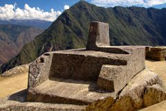 The Inca city of Machu Picchu Stock Photography
