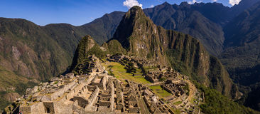 The Inca city of Machu Picchu. Machu Picchu, PERU in October 2015: Where the Incas used to live nowadays thousands of tourists come to see the Inca heritage Royalty Free Stock Photos
