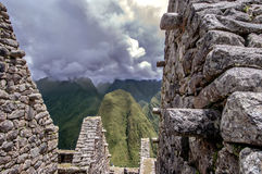 Inca city Machu Picchu (Peru) royalty free stock photo