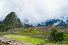 Inca city, Machu Picchu, Peru, 02/08/2019 royalty free stock photography
