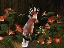 Inca Cockatoo. 3d-illustration of an Inca Cockatoo - sitting on a liane Stock Photography
