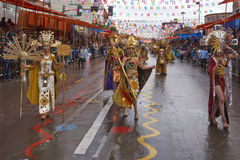 Inca Dancers at the Oruro Carnival in Bolivia Stock Images