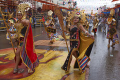 Inca Dancers at the Oruro Carnival in Bolivia Royalty Free Stock Images