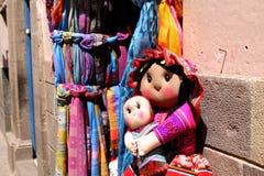 Inca Doll Peruanska produkter Handgjorda traditionella konster Royaltyfria Bilder