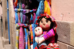 Inca Doll. Peruvian products. Handmade traditional arts. Royalty Free Stock Images