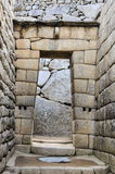 Inca door at Machu Picchu, the sacred city of Incas, Peru Stock Photo