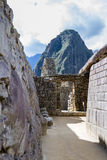 Inca doorways in Machu Pichu Royalty Free Stock Photos