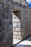 Inca doorways in Machu Pichu Stock Images