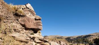 Inca Face Panorama Foto de archivo