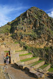 Inca Fortress em Ollantaytambo, Peru imagens de stock royalty free
