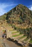 Inca Fortress in Ollantaytambo, Peru Royalty Free Stock Images