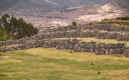 Inca fortress of Sacsayhuaman. Cuzco, Peru Stock Images