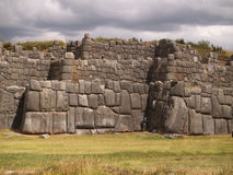 Inca fortress of Sacsayhuaman stock photo