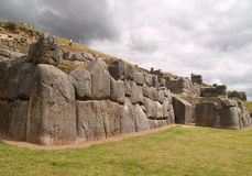 Inca fortress of Sacsayhuaman Royalty Free Stock Images