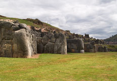 Inca fortress of Sacsayhuaman. Cuzco, Peru Royalty Free Stock Image