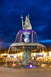 Inca fountain in Cusco, Peru Stock Photo