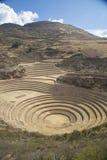 Inca landbouwterrassen in Moray royalty-vrije stock foto