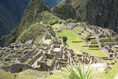 Inca lost city Machu Picchu, Peru. Royalty Free Stock Photography