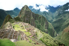 Inca lost city Machu Picchu, Peru. Stock Photos