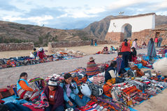 Inca Market in Chichero, Peru Royalty Free Stock Photography