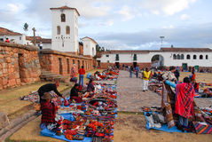 Inca Market in Chichero, Peru Royalty Free Stock Images