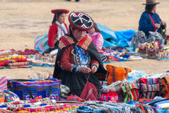 Inca Market em Chichero, Peru imagem de stock royalty free