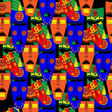 Inca masks. Seamless background pattern. Vector illustration Stock Photography