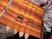 Inca met de hand gemaakte textiel Royalty-vrije Stock Foto