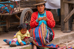 Inca Mother and Child Royalty Free Stock Photos
