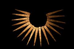 Inca necklace. A necklace from the Inca culture royalty free stock photo