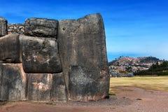 Inca oud bolwerk stock afbeeldingen