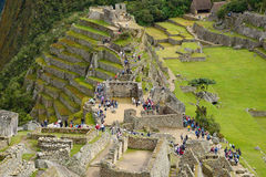 Inca oude ruïne van Peru Stock Afbeeldingen