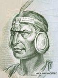 Inca Pachacutec portrait. From old Peruvian money Royalty Free Stock Photos