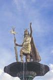 Inca Pachacutec-standbeeld Stock Afbeelding