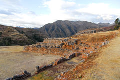 Inca Palace ruins in Chinchero, Cuzco, Peru Royalty Free Stock Image