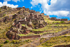 Inca Pisac, Peru. Qalla Qasa is the citadel in Pisac, Peru Royalty Free Stock Photo