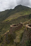 Inca ruin in harsh andes landscape Stock Image