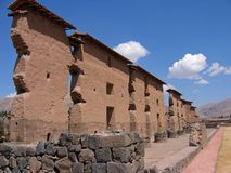 Inca ruin in Peru. Inca ruin near the city of Cusco in Peru royalty free stock photos