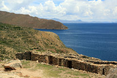 Inca ruins. On the island Isla del Sol, Bolivia Stock Image