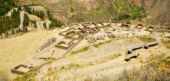 Inca ruins. Overlook of Pisac Inca ruins near Cusco, Peru Stock Photography