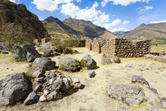 Inca ruins. Ancient Inca ruins at Pisac near Cuzco, Peru Royalty Free Stock Image
