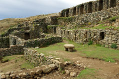 Inca ruins, Bolivia. Inca ruins on the Isla del Sol, Titicaca Lake, Bolivia Stock Photos
