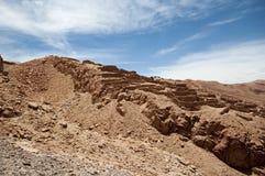 Inca ruins in Chile. Inca ruins of Pukara de Quitor in San Pedro de Atacama, Chile Royalty Free Stock Photo