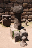 Inca ruins in Chucuito, Titicaca lake, Peru Stock Photo