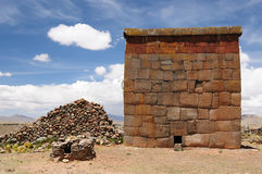 Inca ruins in Cutimbo, Titicaca lake, Peru Royalty Free Stock Image