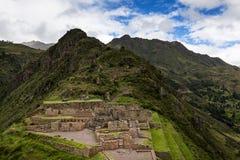 Inca Ruins dans Pisac, Pérou Photos libres de droits
