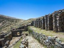 Inca Ruins di Isla del Sol, Bolivia Fotografia Stock