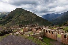 Inca Ruins em Pisac, Peru foto de stock royalty free