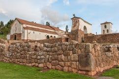 Inca Ruins i Chinchero peru Royaltyfri Fotografi