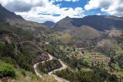 Inca Ruins i Pisac royaltyfri bild